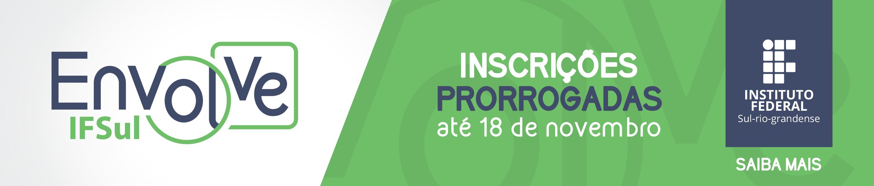 IFSul Envolve - prorrogado